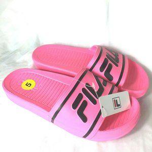 NEW Fila Girls Sandals Size 5 Pink Black New WT